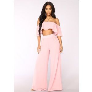 Dusty pink two piece set